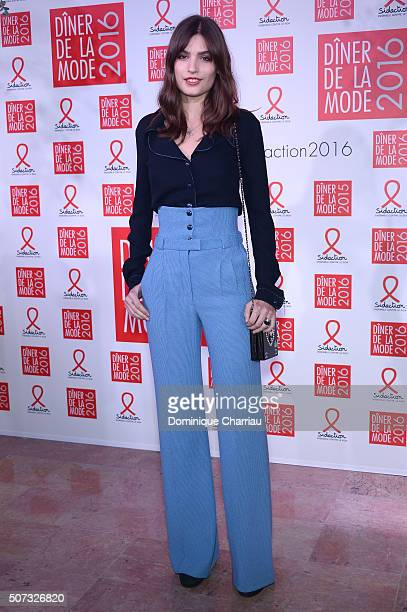 Alma Jodorowsky attends the Sidaction Gala Dinner 2016 as part of Paris Fashion Week on January 28 2016 in Paris France