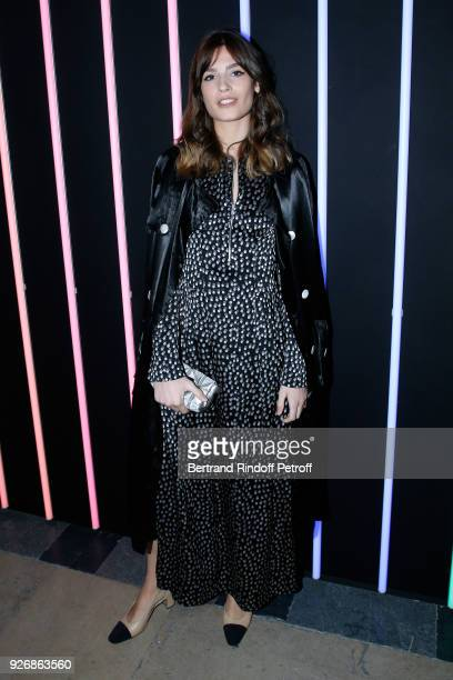 Alma Jodorowsky attends the Sonia Rykiel show as part of the Paris Fashion Week Womenswear Fall/Winter 2018/2019 on March 3 2018 in Paris France