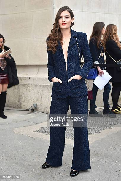 Alma Jodorowsky departs the Chanel fashion show Paris Fashion Week Haute Coture Spring /Summer 2016 on January 26 2016 in Paris France
