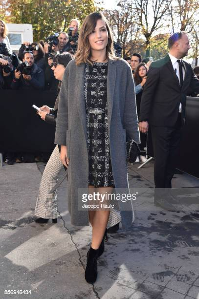 Alma Jodorowsky is seen arriving at Chanel show during Paris Fashion Week Womenswear Spring/Summer 2018on October 3 2017 in Paris France