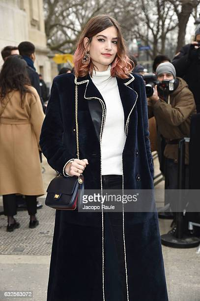 Alma Jodorowsky is seen arriving at the Chanel Fashion Show during Paris Fashion Week Haute Couture F/W 20172018 on January 24 2017 in Paris France
