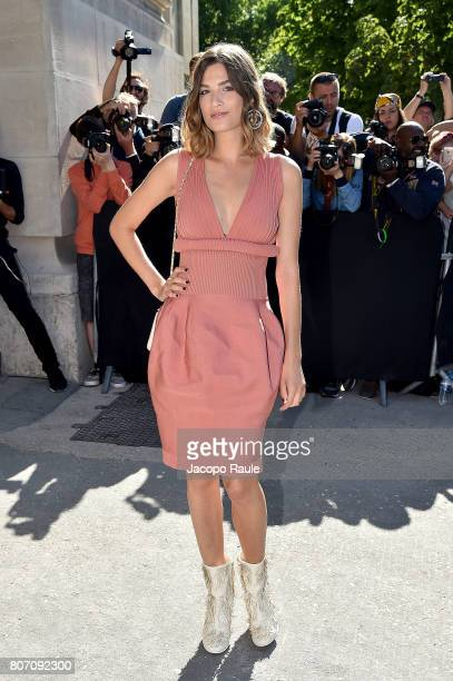 Alma Jodorowsky is seen arriving at the 'Chanel' show during Paris Fashion Week Haute Couture Fall/Winter 20172018 on July 4 2017 in Paris France