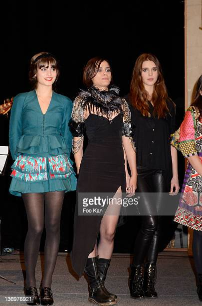 Alma Jodorowsky Melissa Mars and Gaia Weiss attend the 17th 'Ceremonie Des Lumieres' at the Hotel de Ville on January 13 2012 in Paris France