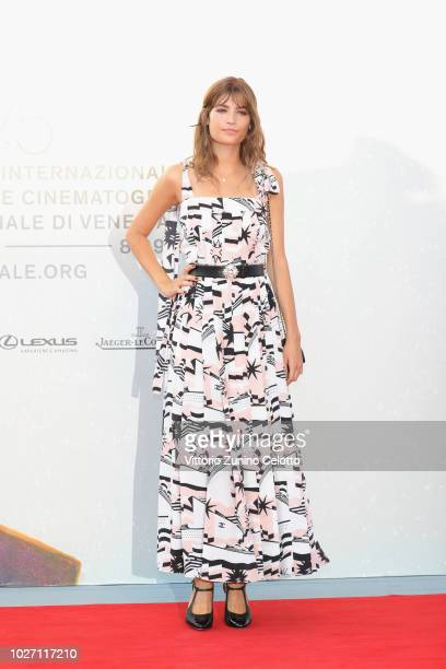 Alma Jodorowsky walks the red carpet ahead of the 'L'Annee Derniere a Marienbad' screening during the 75th Venice Film Festival at Sala Giardino on...