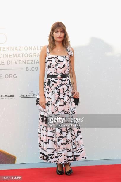 Alma Jodorowsky walks the red carpet ahead of the L'Annee Derniere a Marienbad screening during the 75th Venice Film Festival at Sala Giardino on...