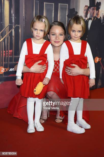 Alma Loehr Sonja Gerhardt and Smilla Loehr during the premiere of 'Ku'damm 59' at Cinema Paris on March 7 2018 in Berlin Germany