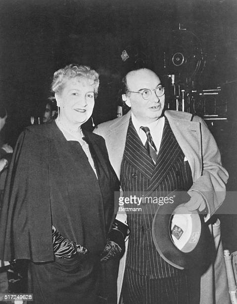 Alma Mahler Werfel and Franz Werfel are shown in this photo visiting a Hollywood studio Mme Werfel's autobiography And the Bridge is Love Memories of...