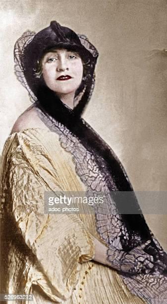 Alma Maria MahlerWerfel Austrian artist Ca 1920 Coloured photograph