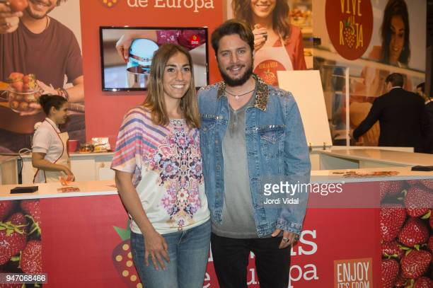 Alma Obregon and Manu Obregon attend the presentation of Fresas de Europa in Alimentaria at Fira de Barcelona on April 16 2018 in Barcelona Spain
