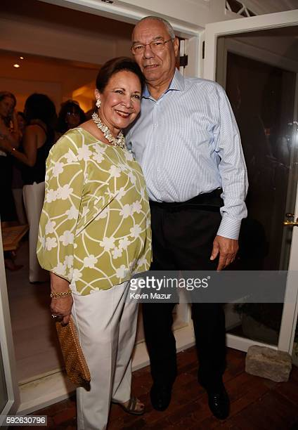 Alma Powell and Former US Secretary of State General Colin Powell attend Apollo in the Hamptons 2016 at The Creeks on August 20 2016 in East Hampton...
