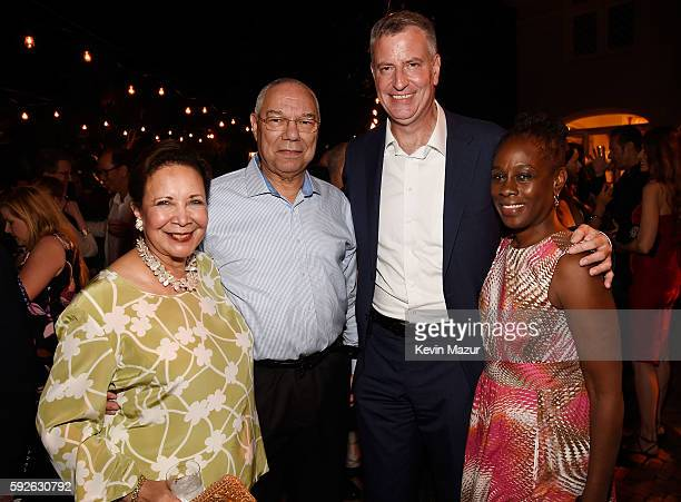 Alma Powell Former US Secretary of State General Colin Powell NYC Mayor Bill de Blasio and Chirlane McCray attend Apollo in the Hamptons 2016 at The...