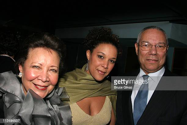 Alma Powell Linda Powell and Colin Powell during On Golden Pond Opening Night on Broadway Curtain Call and After Party at The Cort Theater and Blue...