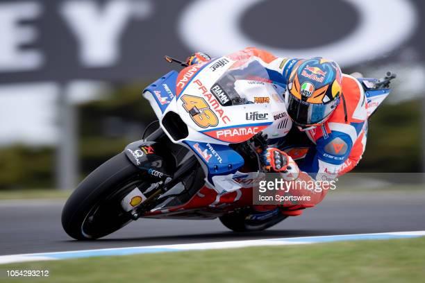 Alma Pramac Racing Ducati rider Jack Miller in qualifying during The 2018 Australian MotoGP at The Phillip Island Circuit in Victoria Australia on...