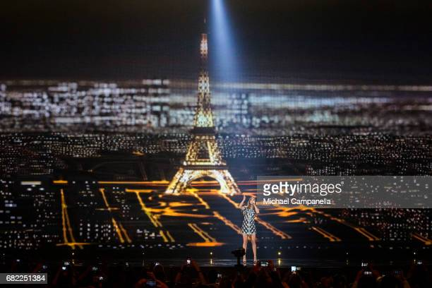 Alma representing France performs the song 'Requiem' during the rehearsal for the second semi final of the 62nd Eurovision Song Contest at...