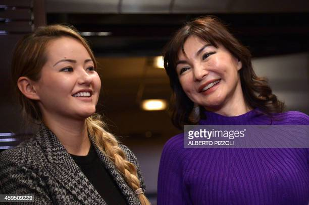 Alma Shalabayeva smiles with her daughter Madina after she arrived in Rome on December 27, 2013. Shalabayeva, the wife of exiled oligarch and...