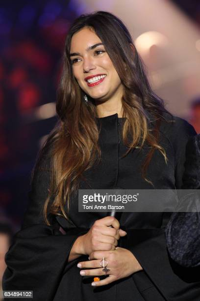 Alma that will represent France at the next Eurovision Song contest is indroduced to the audience during the '32nd Victoires de la Musique 2017' at...