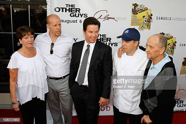 Alma Wahlberg Jim Wahlberg Mark Wahlberg Paul Wahlberg and Arthur Donnolly attend a screening of 'The Other Guys' at Alma Nove on August 3 2010 in...