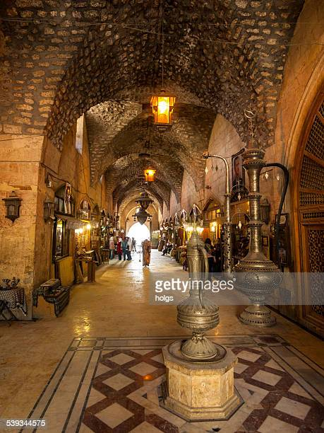 al-madina souq in the centre of  aleppo, syria - al madinah stock pictures, royalty-free photos & images