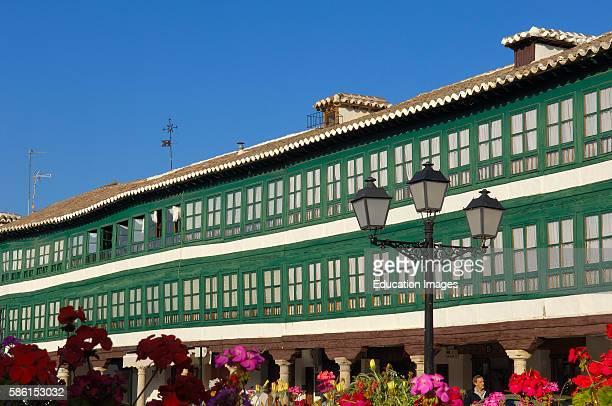 Almagro Main square Plaza mayor Ciudad Real province Route of Don Quixote Castilla la Mancha Spain