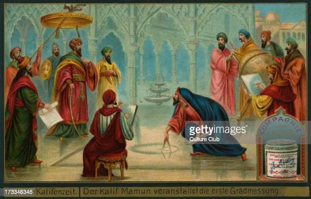 AlMa'mun at the first degree measurmentCaliph AlMa'mun/Almamon/ AlMaymun/ elMâmoûn Abbasid caliph Liebig card Episodes from the Caliphate 1897
