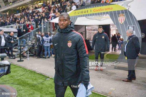 Almamy Toure of Monaco during the Ligue 1 match between Amiens SC and AS Monaco at Stade de la Licorne on November 17 2017 in Amiens