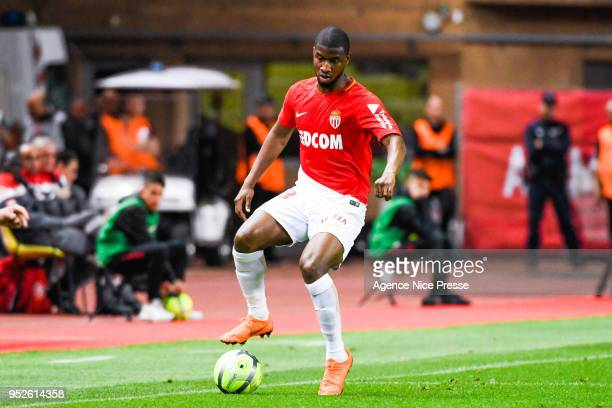 Almamy Toure of Monaco during the Ligue 1 match between AS Monaco and Amiens SC at Stade Louis II on April 28 2018 in Monaco