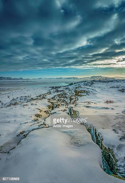 almannagja fissure, mid-atlantic ridge, iceland - pingvellir national park stock photos and pictures