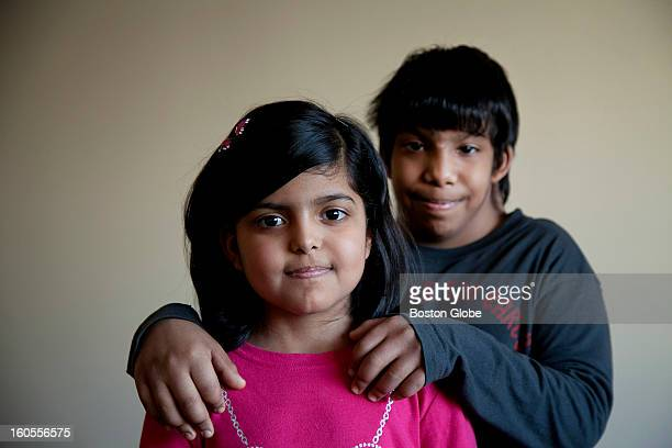 Almas front and Abdulallah have Diamond–Blackfan anemia The Alhazmi family is photographed for a story about two of their children having...