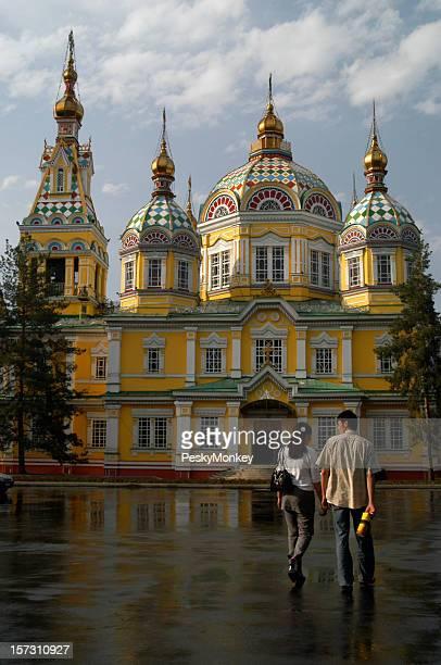 Almaty Kazakhstan Zenkov Cathedral Courtyard
