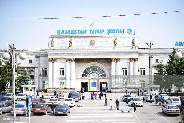 Almaty Railway Station Main Entrance