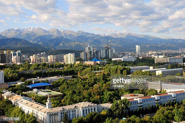 almaty skyline - kazakhstan stock pictures, royalty-free photos & images