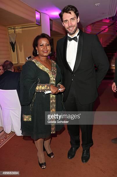 Almaz Boehm, widow of Karlheinz Boehm, and Prince Ludwig von Bayern during the Audi Generation Award 2015 at Hotel Bayerischer Hof on December 2,...