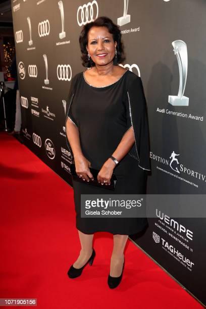 Almaz Boehm, widow of Karlheinz Boehm during the Audi Generation Award 2018 at Hotel Bayerischer Hof on December 11, 2018 in Munich, Germany.