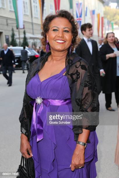 Almaz Boehm , widow of Karlheinz Boehm during the opening of the Easter Festival 2017 'Walkuere' opera premiere on April 8, 2017 in Salzburg,...