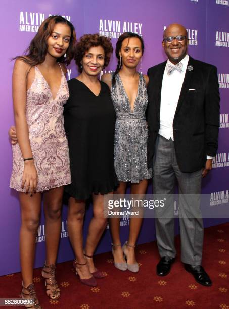 Almaz Strachan and Marc Strachan attend Alvin Ailey's 2017 Opening Night Gala at New York City Center on November 29 2017 in New York City