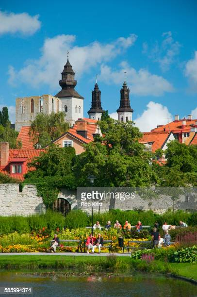 almedalen park - gotland stock pictures, royalty-free photos & images
