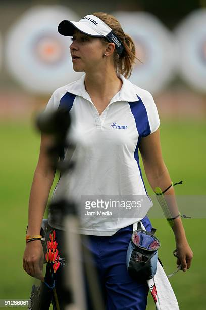 Almendra Ochoa Vidal during the National Championship Of Archery prior to the Central American Games and the Caribbean 2010 in Puerto Rico at the...