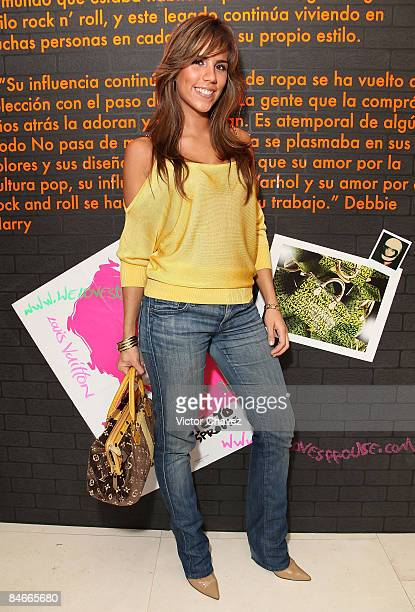 Almendra Veytia attends the Louis Vuitton tribute to Stephen Sprouse at the Louis Vuitton Masaryk store on February 4 2009 in Mexico City Mexico