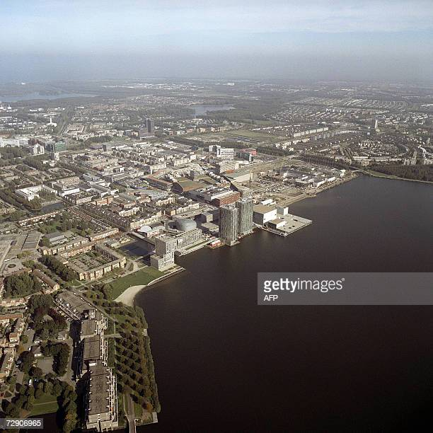 """Booming polder town Almere illustrates the Dutch way of urban planning"""" This picture taken 17 September 2006 shows an aerial view of Almere. They say..."""