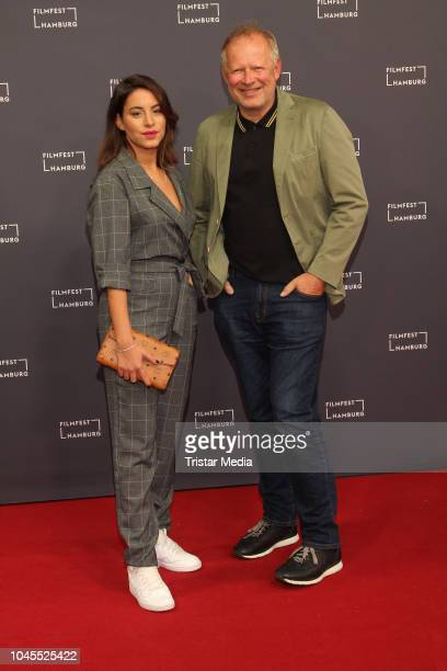 Almila Bagriacik and Axel Milberg attend the 'Borowski und das Glueck der Anderen' premiere during the Film Festival on October 03 2018 in Hamburg...