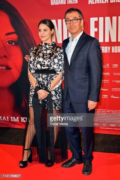 Almila Bagriacik and Cem Oezdemir attend the 'Nur eine Frau' premiere at Kino International movie theater on May 6, 2019 in Berlin, Germany.