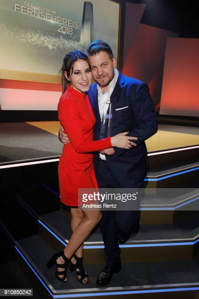 Almila Bagriacik and director Marvin Kren attend the German Television Award at Palladium on January 26 2018 in Cologne Germany
