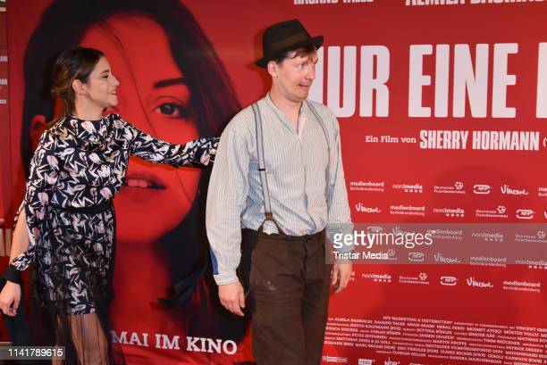 Almila Bagriacik and Jacob Matschenz attend the 'Nur eine Frau' premiere at Kino International movie theater on May 6, 2019 in Berlin, Germany.