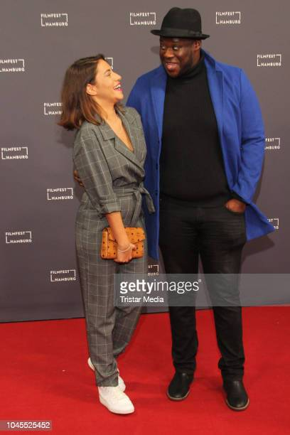 Almila Bagriacik and Prince Kuhlmann during the Film Festival on October 03 2018 in Hamburg Germany