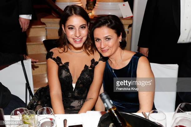 Almila Bagriacik and Sandra Maischberger during the 46th German Film Ball at Hotel Bayerischer Hof on January 26 2019 in Munich Germany