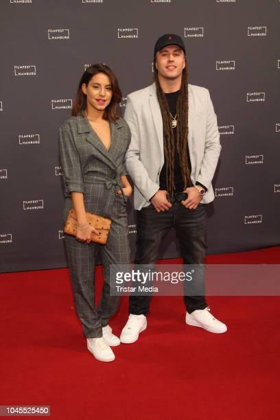 Almila Bagriacik and Sebastian Guendel aka Goldjunge during the Film Festival on October 03 2018 in Hamburg Germany