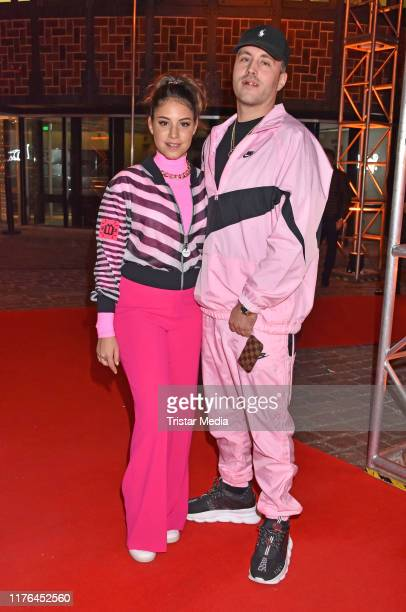 Almila Bagriacik and Sebastian Guendel attend the release party of Shirin David's debut album Supersize at eWerk on September 20 2019 in Berlin...