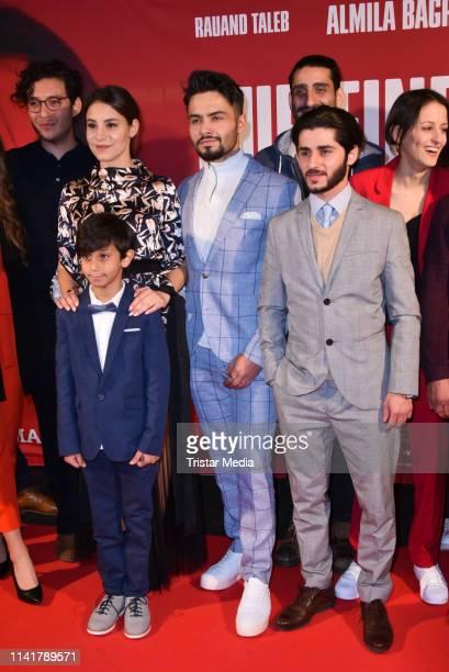 Almila Bagriacik, Aram Arami, Rauand Taleb and Merve Aksoy attend the 'Nur eine Frau' premiere at Kino International movie theater on May 6, 2019 in...