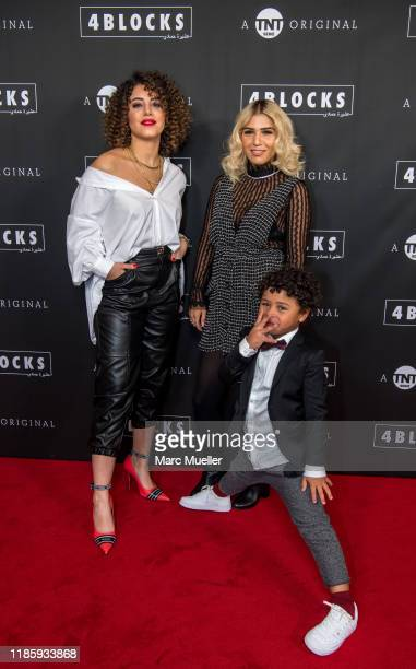 Almila Bagriacik Ceren Corr and Isaiah Corr attend the PreviewScreening of TNT Serie Original 4 Blocks held by TNT Serie at Gloria Palast and...