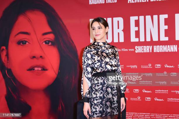 Almila Bagriacik in a dress of Marcell von Berlin attends the 'Nur eine Frau' premiere at Kino International movie theater on May 6, 2019 in Berlin,...